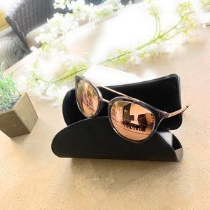 Armani Exchange Mirror Rose Gold/ Grey Sunglasses